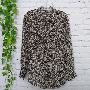 Equipment Femme women's silk blouse medium